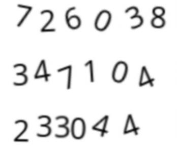Wygenerowane losowe ciągi cyfr