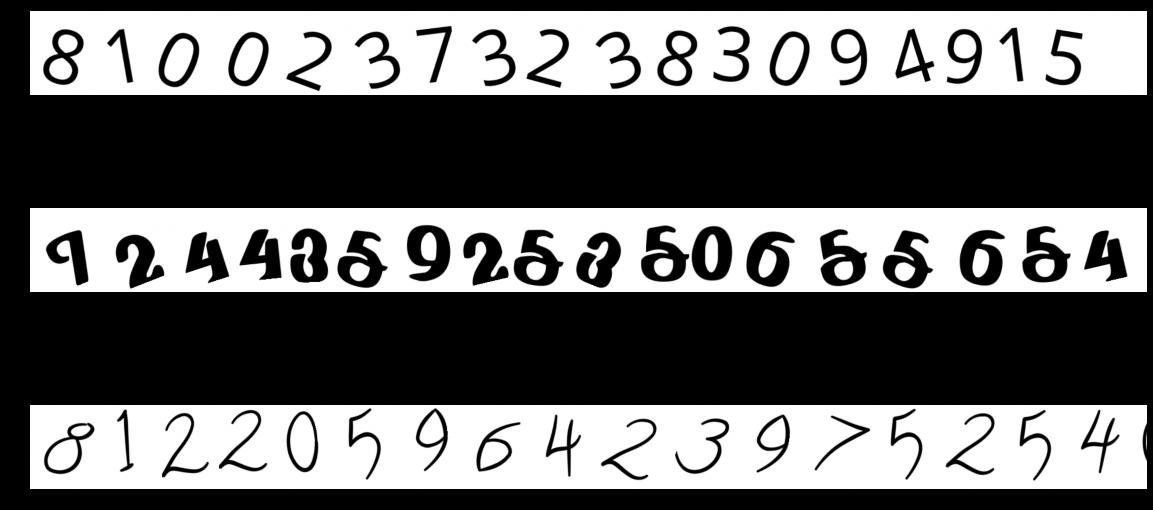 Jak wygenerować obrazy z ciągiem losowych cyfr w Pythonie